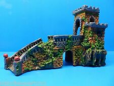 CASTLE KEEP BRIDGE WALL RUINS WR122 AQUARIUM RESIN DETAILED FISH TANK DECOR