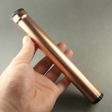 Fine Rose Gold Color COHIBA 1 fingers Metal Travel Cigar Tube Jar humidity HB21G