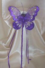 WEDDING FLOWERS FLOWER GIRL OR BRIDESMAID CADBURY PURPLE BUTTERFLY WAND