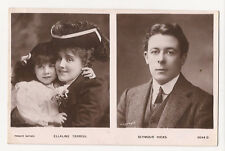 (e27) Real Photo of Ellaline Terriss with Daughter & Semour Hicks  1905 - Used