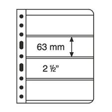 5 Pochettes plastiques VARIO 4 compartiments, pellicule transparente- Réf 316774