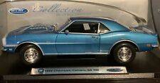 1968 CHEVROLET  CAMARO SS 396  BLUE BY  WELLY RARE FIND