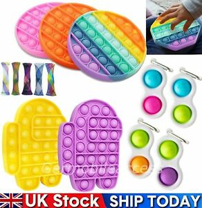 Push Pop Bubble Among us Sensory Fidget Toy Dimple Mesh Stress Relief Kids Gifts