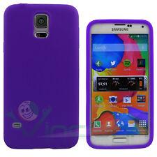 Custodia cover silicone VIOLA per Samsung Galaxy S5 G900F neo G903F anti urto