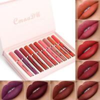 10pc / set Velert Matte Lip Gloss Liquid Lipstick Nude Lips Matte Lip Gloss 3g