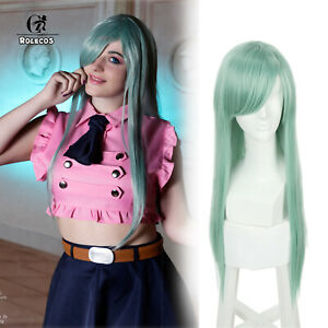 The Seven Deadly Sins Elizabeth Liones Long Straight Light Green Cosplay Wigs