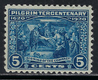 SCOTT 550 1920 5 CENT PILGRIM TERCENTENARY ISSUE MNH OG VF CAT $65!