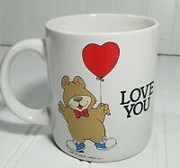 Vintage Forever Friends Bear I Love You Coffee Mug Red Ballon 1987 White Mug
