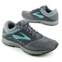 Brooks Revel Womens Sz 9.5 US Athletic Running Shoes Gray Teal 1202491B037 Mesh