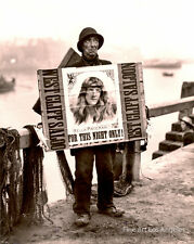 Frank Meadows Sutcliffe Photo, Whitby Island, Saloon Ad on the Docks, 1880s