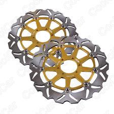 Front Brake Disc Rotors For YAMAHA FZ750 FZS FZR600 TZ 125 250 TDM TRX 850 Gold