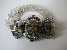 Vintage Art Deco 1920s Large Bracelet / Brooch - Crystals, Diamante
