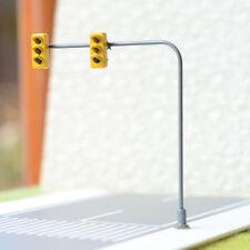 2 Stück LED Verkehrszeichen Ampel signal spur HO TT OO Modell Eisenbahn #2BOR