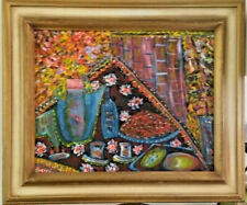 Russian School Oil on Canvas Still Life/Abstract Painting. Signed, Zverev.
