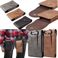 Military Waist Fanny Pack Phone Pocket Tactical PU Pouch Belt Waist Pack Bag