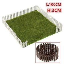 New listing Miniature Wood Fence Fairy Garden Ornaments Dollhouse Pots 100cm*3cm DIY US&zl