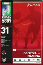 GEORGIA v NAMIBIA RUGBY WORLD CUP 2007 PROGRAMME