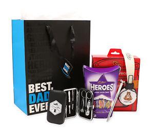 FATHERS DAY GIFT PRESENT HAMPER BAG CHOCOLATE MANICURE HEADPHONES PEN BEST DAD