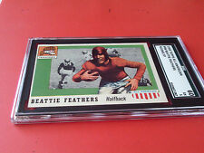 1955  BEATTIE  FEATHERS  ROOKIE  HI #98  SHORT PRINT TOPPS ALL AMERICAN  SGC  60