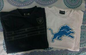 New Era Shirt NFL oakland raiders detroit lions Schwarz Weiß sport football