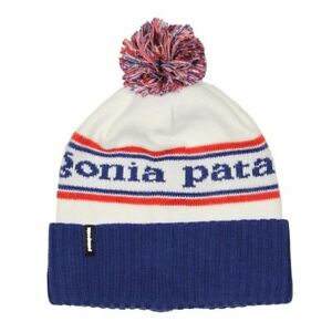 Patagonia Powder Town Pom-Pom Beanie  Viking Blue or Tomato Black Free Shipping