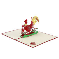 Creative Golden Chicken Cards Birthday 3D Origami Birthday Cards Handmade Jian