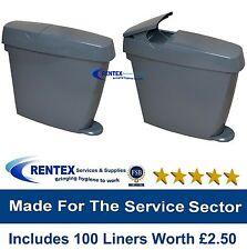 Sanitary Bins Feminine Hygiene Disposal Unit + Female Sani Waste Bin Liners