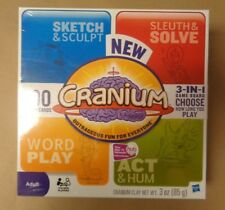 3 in 1 Cranium Adult Family Board Game 2009 Hasbro New & Sealed 600 Cards