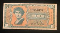 Series 541 Military Payment Certificate 10 Cents VF+ Replacement Star Note MPC