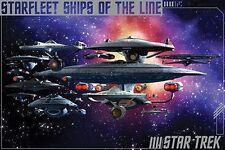 STAR TREK - SHIPS OF THE LINE POSTER - 24x36 SPOCK KIRK ENTERPRISE 241320