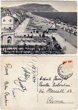 Cartolina di Porto Recanati, spiaggia - Macerata, 1954