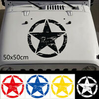 New Military Army Star Car Hood Sticker Vinyl Off Road Decal For Jeep Wrangler