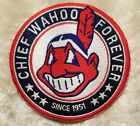 Внешний вид - Cleveland Indians Chief Wahoo Forever Iron/Sew On Embroidered Patch ~ Free Ship!