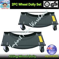 2PCs Car Wheel Dolly Dollies Vehicle Positioning Jack Go Jacks Swivel Castors