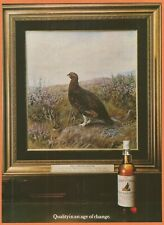 THE FAMOUS GROUSE Famous Scotch Whisky - 1981 Vintage Print Ad
