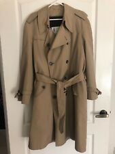 EUC LONDON FOG Mens Trench coat removable lining belted Beige Sze 40 Perfect Fab