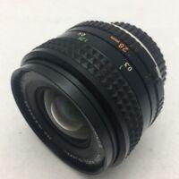 MINOLTA MC W ROKKOR 28mm f 2.8 Camera Wide Lens USED