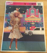 New 1991 Mattel Barbie Golden Frame Tray Puzzle 4552C-19