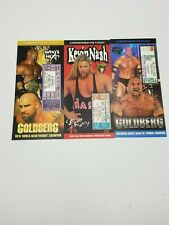 WWE/WCW Commemorative Tickets  3 Different Goldberg, Kevin Nash