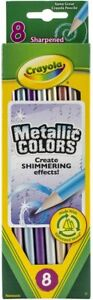 Crayola Metallic FX Colored Pencils, Younger Kids Coloring and Drawing - 8 Count