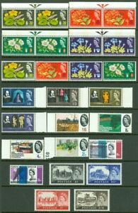 EDW1949SELL : GREAT BRITAIN Collection of Phosphor incl 3 Botanical set Cat $141