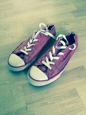 Converse Chuck Taylor Doppia Linguetta Ox Lampone GIRL'S TG UK 3.5