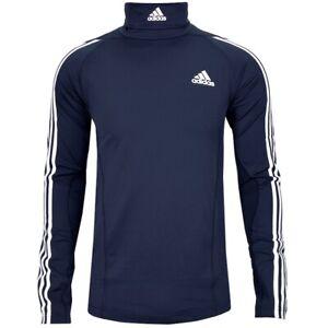 Adidas Herren Rolli Ski Pullover Great Britain Langlauf Ski Alpin GB dunkel blau