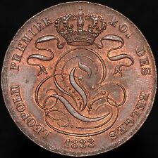 More details for 1833   belgium leopold i 5 centimes   copper   coins   km coins