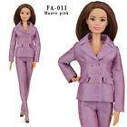 ELENPRIV FA-011 mauve pink jacket pants outfit for Barbie MTM Poppy Parker dolls