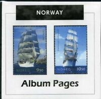 Norway - CD-Rom Stamp Album 1855-2016 Color Illustrated Album Pages