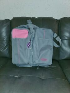 BOXUM BABY 3 IN 1 DIAPER BAG CHANGER STATION BASSINET BAG GRAY & PINK
