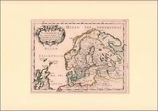 SWEDEN, NORWAY, DENMARK, FINLAND, NICHOLAS SANSON MAP, MATTED, 1656