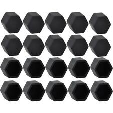 20Pcs Black Car Wheel Nut Lug Dust Cover Cap Protector Tyre Bolt Hub Screw Cap