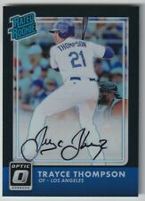 Trayce Thompson 2016 Donruss Optic Rated Rookie Black Parallel Auto #12/25